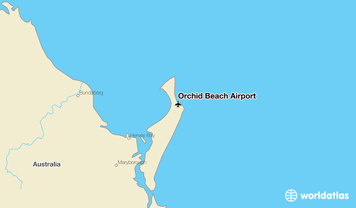 Orchid Beach Airport location on a map
