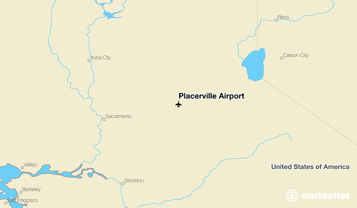 Placerville Airport location on a map
