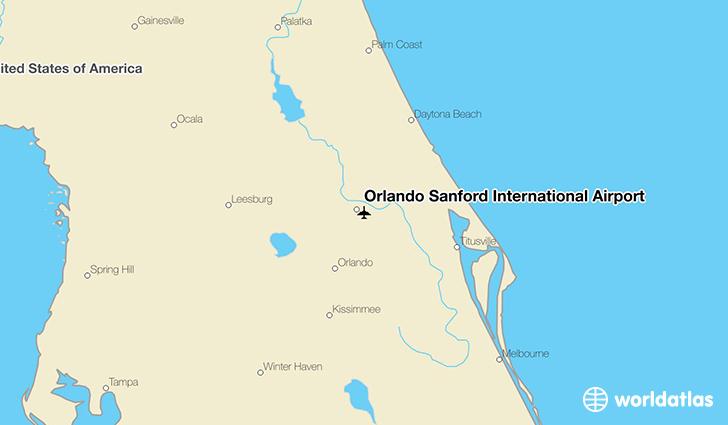 Sfb Airport Map Orlando Sanford International Airport (SFB)   WorldAtlas