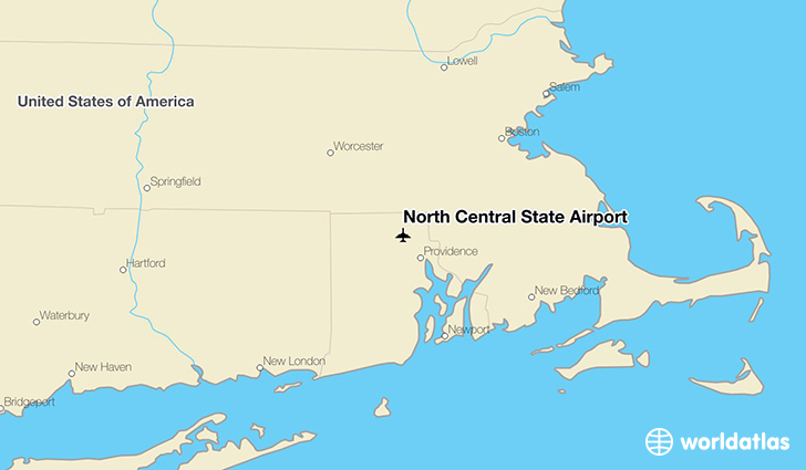 North Central State Airport location on a map