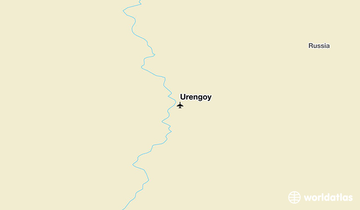 Urengoy location on a map