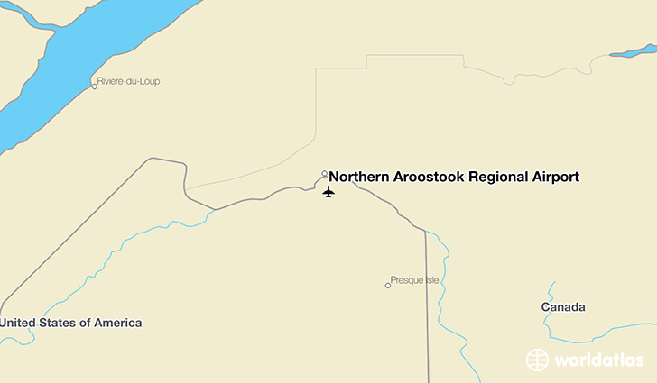 Northern Aroostook Regional Airport location on a map