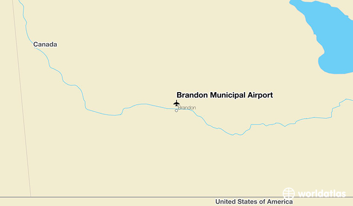 Brandon Municipal Airport location on a map