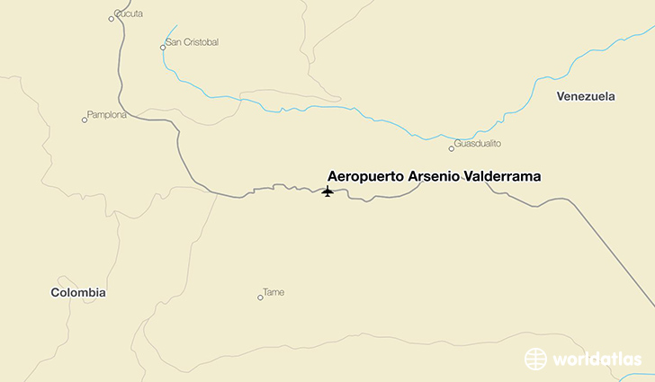 Aeropuerto Arsenio Valderrama location on a map
