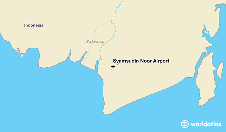 Syamsudin Noor Airport location on a map