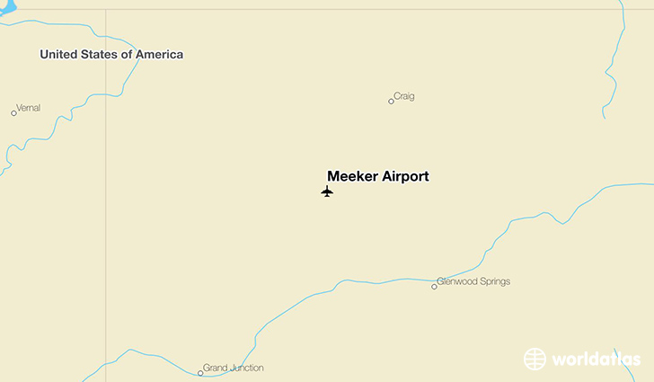 Meeker Airport location on a map