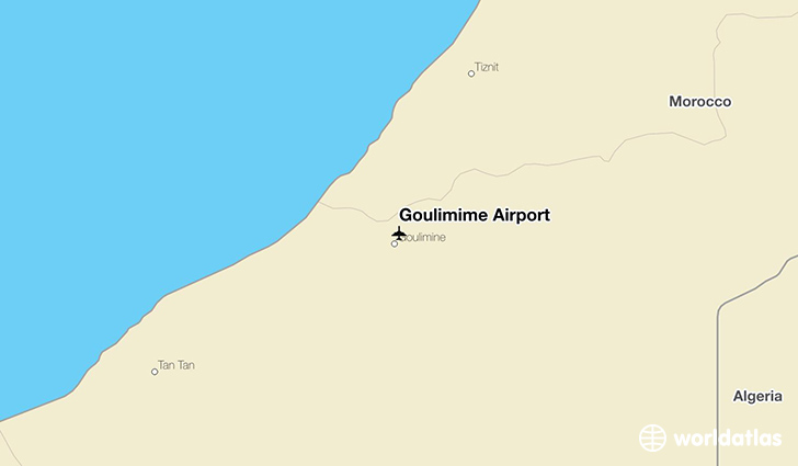 Goulimime Airport location on a map