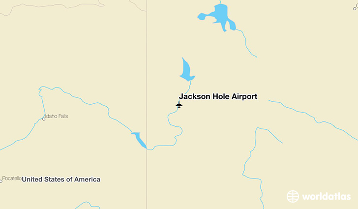 Jackson Hole Airport location on a map