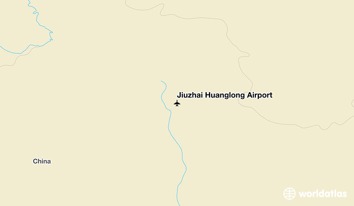 Jiuzhai Huanglong Airport location on a map