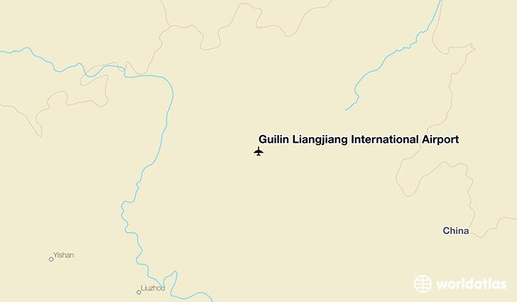 Guilin Liangjiang International Airport location on a map