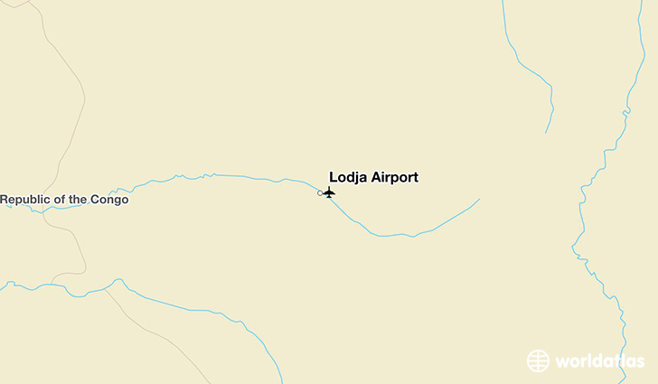 Lodja Airport location on a map