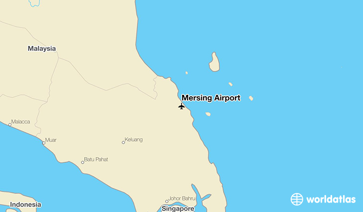 Mersing Airport location on a map