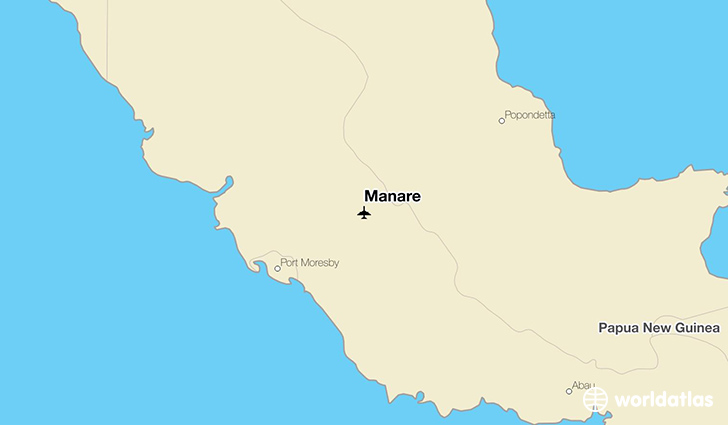 Manare location on a map