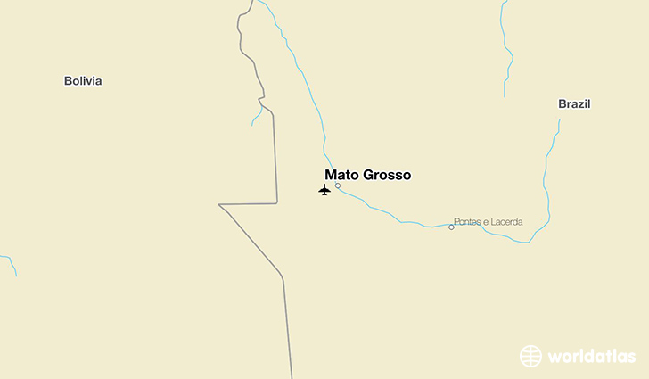 Mato Grosso location on a map