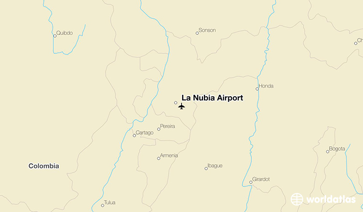 La Nubia Airport location on a map