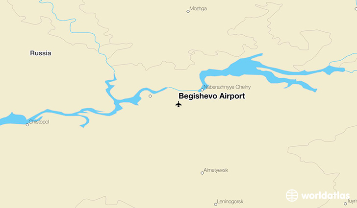 Begishevo Airport location on a map