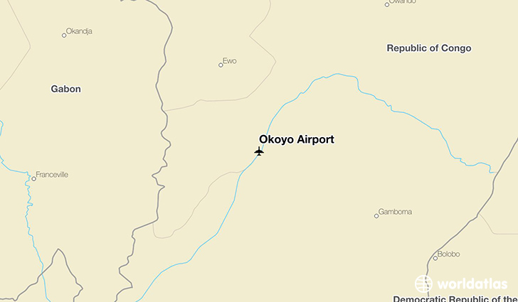 Okoyo Airport location on a map