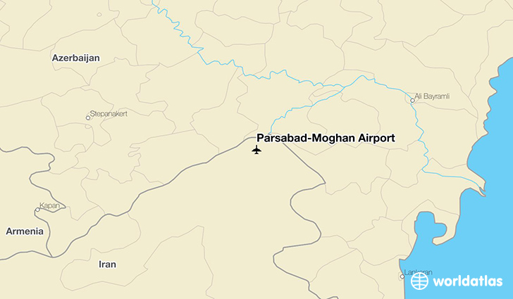 Parsabad-Moghan Airport location on a map