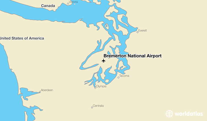 Bremerton National Airport location on a map