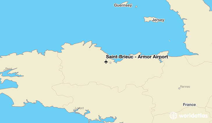Saint-Brieuc – Armor Airport location on a map