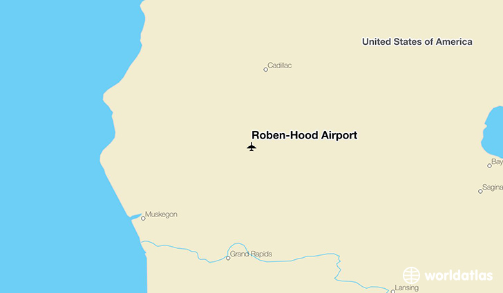 Roben-Hood Airport location on a map