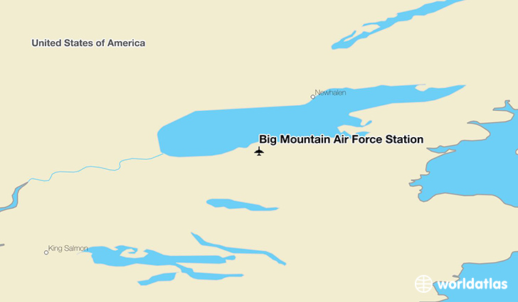 Big Mountain Air Force Station location on a map