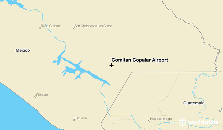 Comitán Copalar Airport location on a map