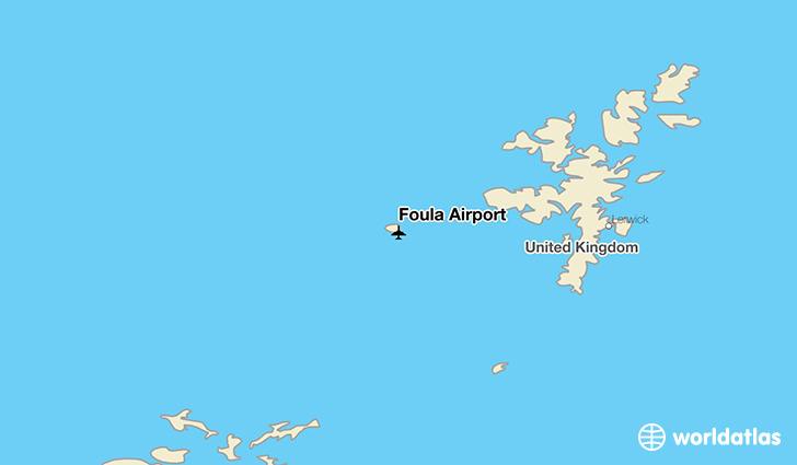 Foula Airport location on a map