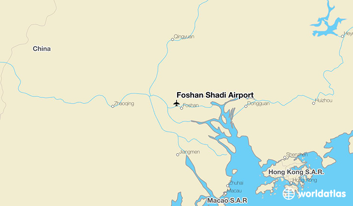 Foshan Shadi Airport location on a map