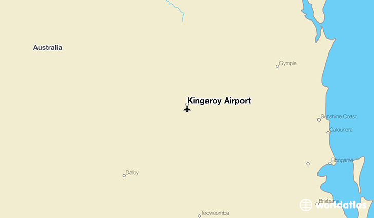 Kingaroy Airport location on a map
