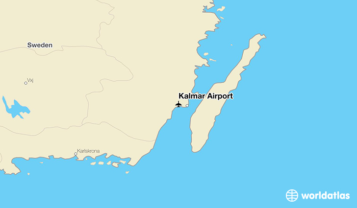 Kalmar Airport location on a map