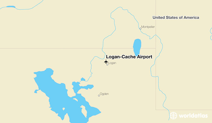 Logan-Cache Airport location on a map