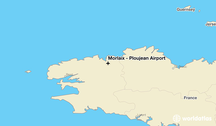 Morlaix – Ploujean Airport location on a map