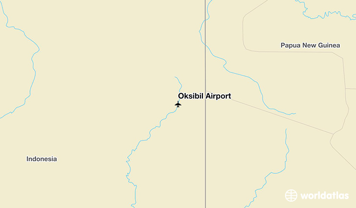 Oksibil Airport location on a map