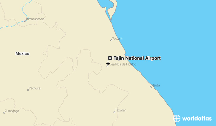 El Tajín National Airport location on a map