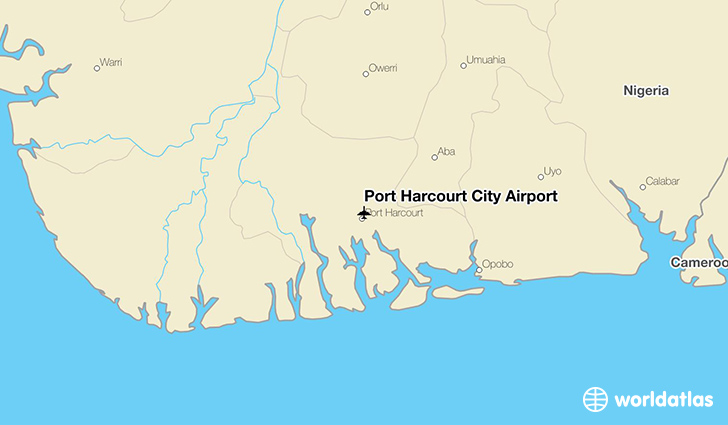 Port Harcourt City Airport location on a map