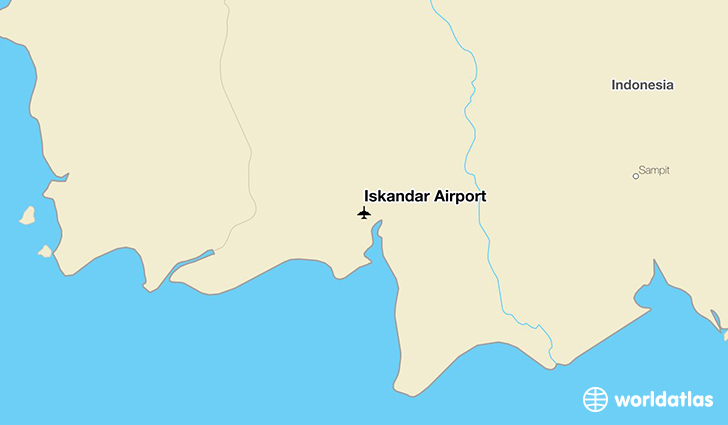 Iskandar Airport location on a map
