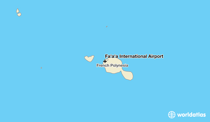 Fa'a'ā International Airport location on a map