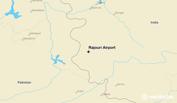 Rajouri Airport location on a map