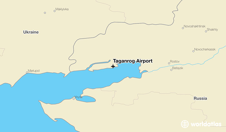 Taganrog Airport location on a map