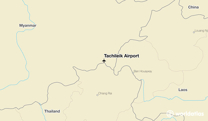 Tachileik Airport location on a map