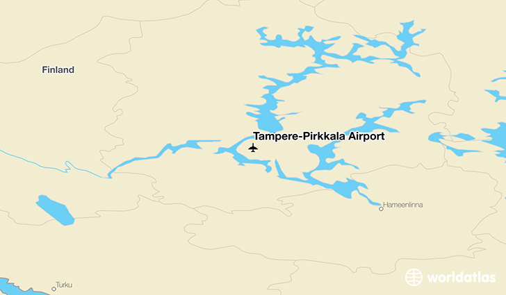 Tampere–Pirkkala Airport location on a map