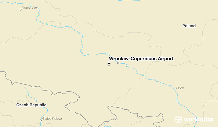 Wrocław–Copernicus Airport location on a map