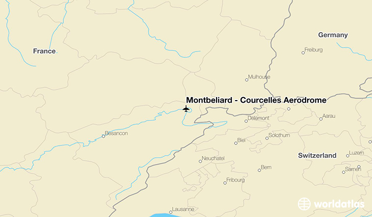Montbéliard – Courcelles Aerodrome location on a map