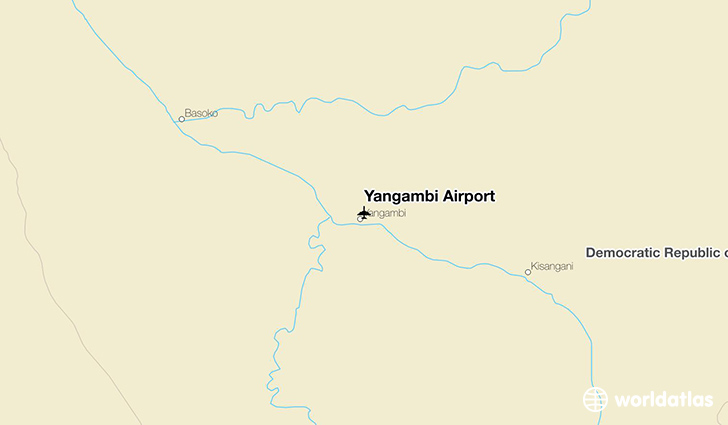 Yangambi Airport location on a map