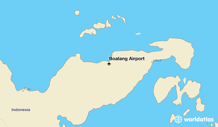Boalang Airport location on a map
