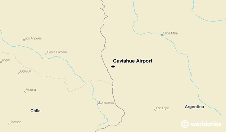 Caviahue Airport location on a map