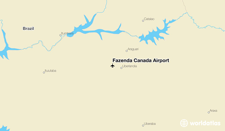 Fazenda Canadá Airport location on a map