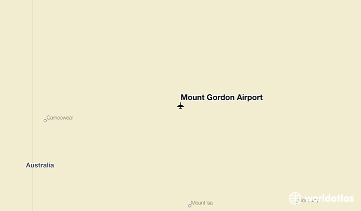 Mount Gordon Airport location on a map