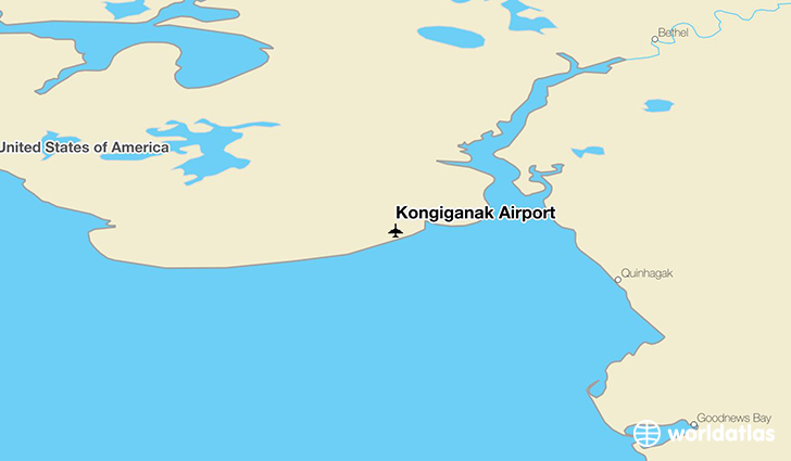 Kongiganak Airport location on a map